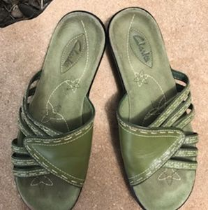 Women's Green Clark Sandals